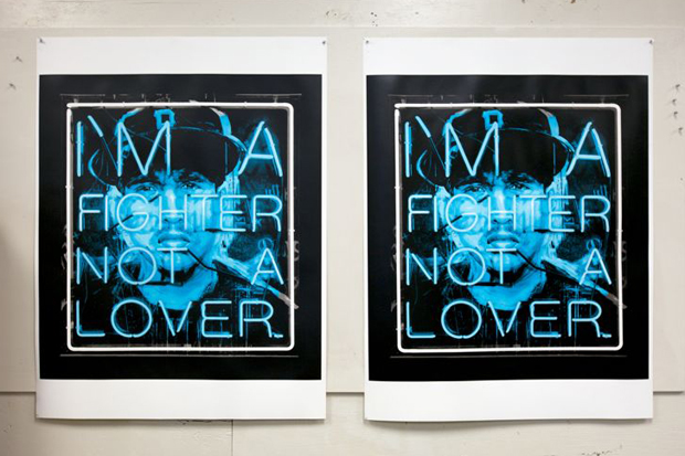 Image of Patrick Martinez 'Hate and Love (Fighter)' Serigraph