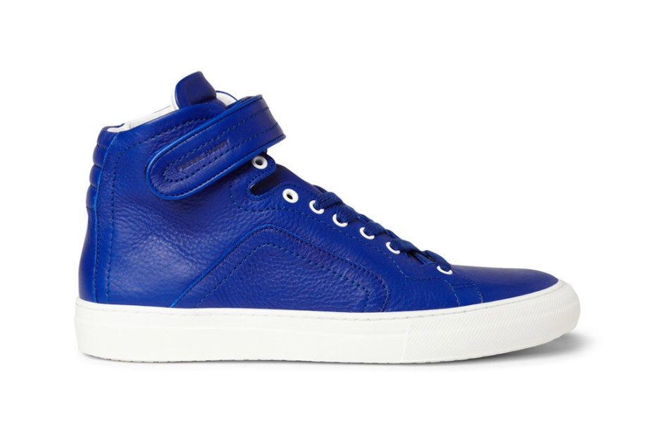 Image of Pierre Hardy Leather High Top Sneakers