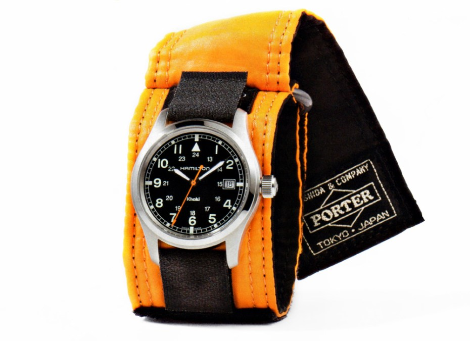 Image of Porter x Hamilton 77th Anniversary Limited Edition Khaki Field Auto Watch