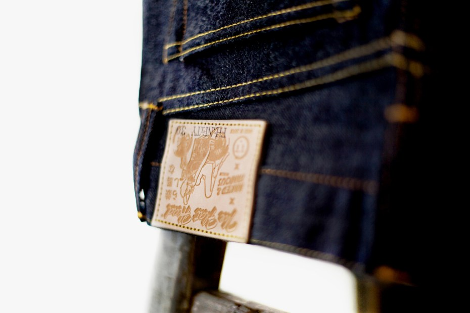 "Image of The Flat Head x Naked & Famous for Tate + Yoko 14.5 oz ""Weird Guy"" Denim"