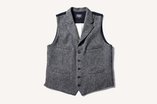 Image of The Rugged Museum BIRDS EYE TWEED LAPELED VEST