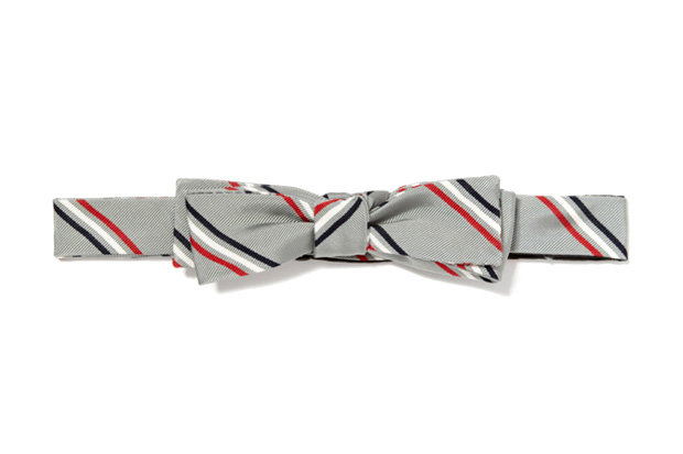 Image of Thom Browne Classic Triple Stripe Bow Tie