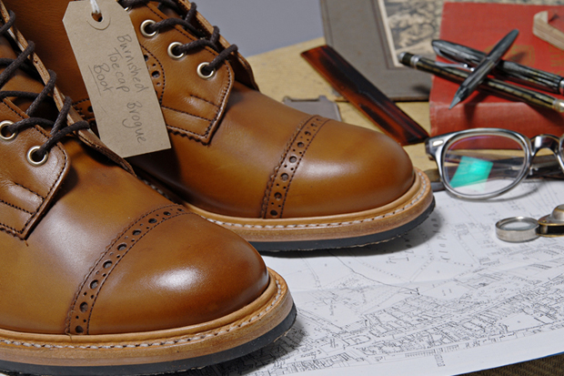 Image of Tricker's for End Hunting Co. Burnished Toe Cap Brogue & Boot