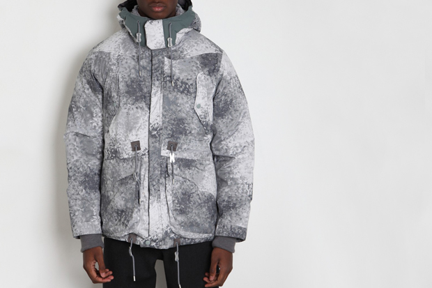 Image of White Mountaineering Pertex Digital Camo Middle Down Jacket