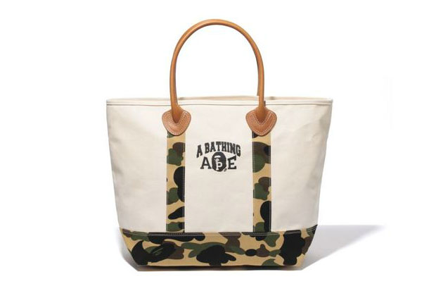 Image of A Bathing Ape 1ST CAMO CANVAS TOTE BAG