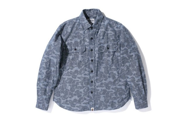 Image of A Bathing Ape ABC CHAMBRAY WORK SHIRT