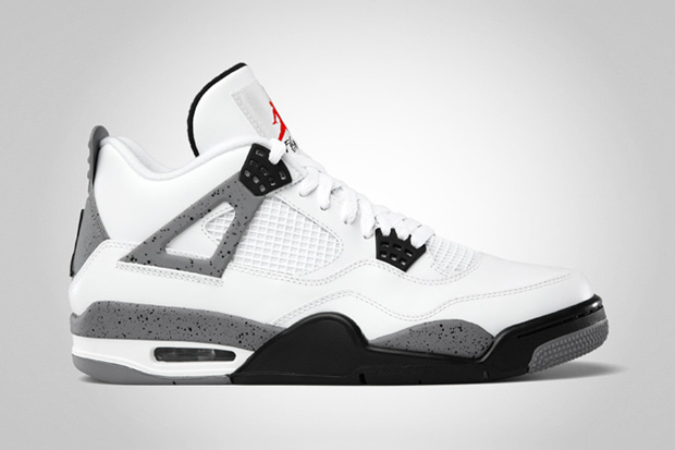 Image of Air Jordan IV 2012 White/Cement Grey Retro