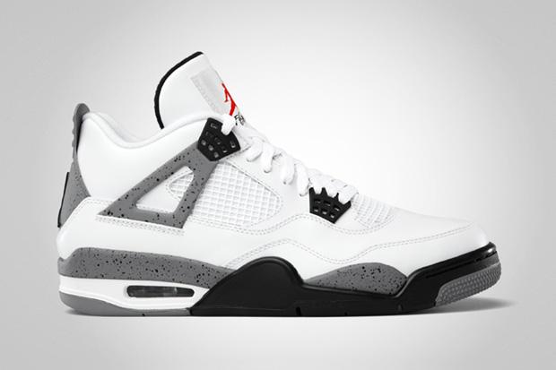 Image of Air Jordan IV 2012 White/Cement Grey Retro