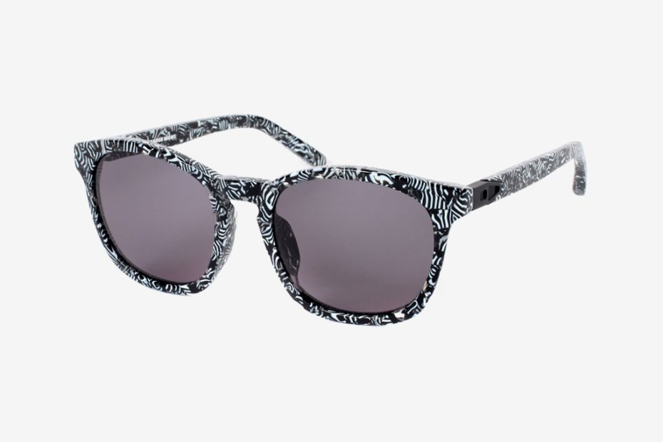 Image of Alexander Wang x Linda Farrow Rectangle-Frame Zebra Print Sunglasses
