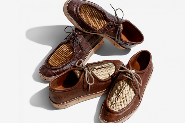 Image of Burberry 2012 Spring/Summer Raffia Upper Desert Loafers