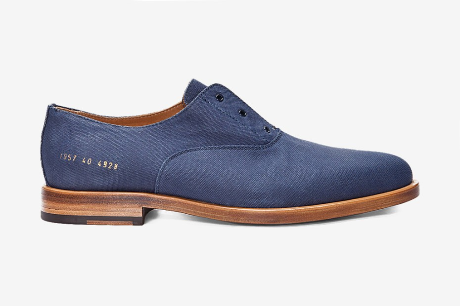 Image of Common Projects Navy Officer's Derby Shoes