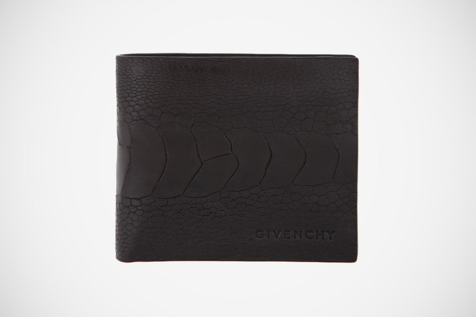 Image of Givenchy 2012 Spring/Summer Black Ostrich Wallet