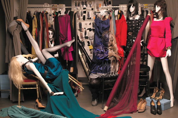 Image of Harper's BAZAAR: Lost in Fashion Editorial by Liu Bolin