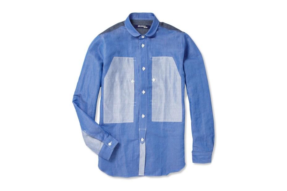 Image of Junya Watanabe COMME des GARCONS MAN Panelled Linen-blend Shirt