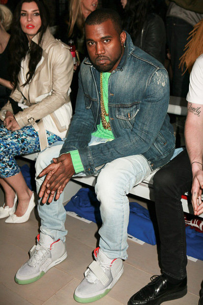 Image of Kanye West Wears Zen Grey Air Yeezy 2 @ London Fashion Week