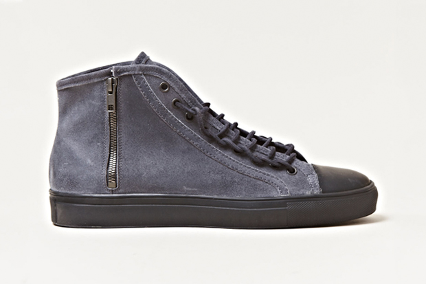 Image of Maison Martin Margiela 2012 Spring/Summer Distressed Leather High Top Sneakers