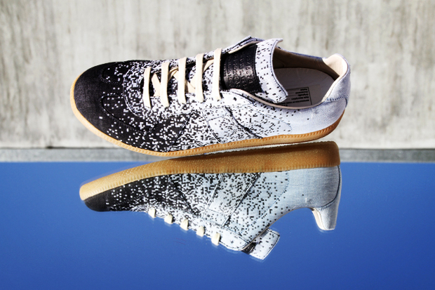 Image of Maison Martin Margiela 2012 Spring/Summer Pixelated Low Top Sneakers