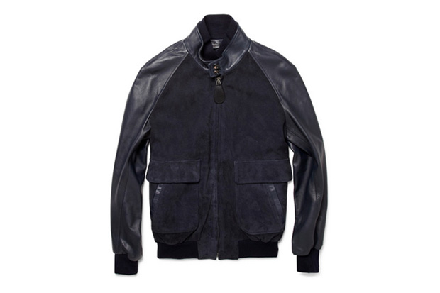 Image of Maison Martin Margiela Suede and Leather Bomber Jacket