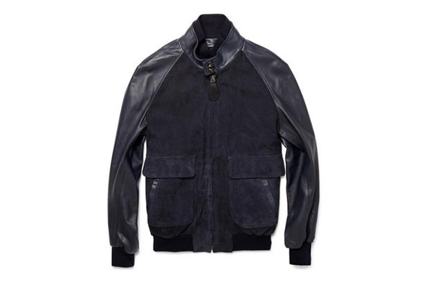 Image of Maison Martin Margiela Suede and Leather Bomber Jacket