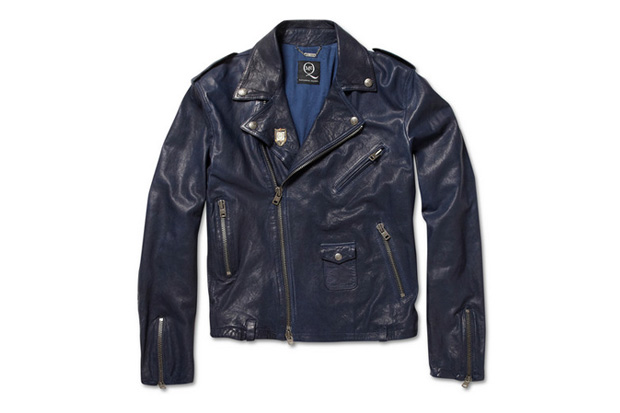 Image of McQ by Alexander McQueen Washed Leather Biker Jacket