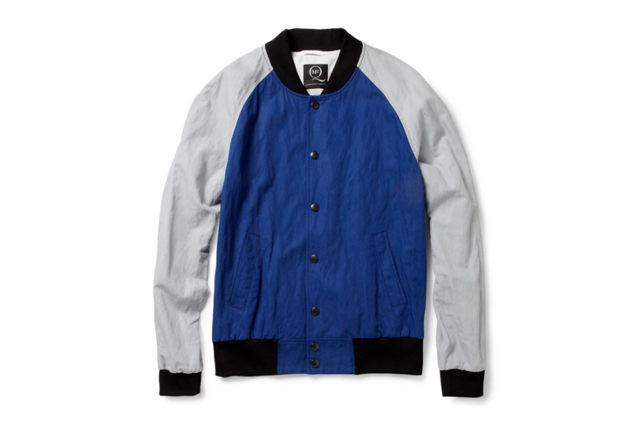 Image of McQ Alexander McQueen Cotton-Blend Baseball Bomber Jacket