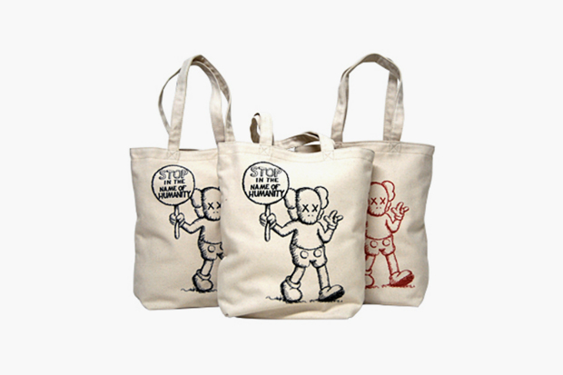 "Image of OriginalFake ""Stop in the Name of Humanity"" Tote Bags"