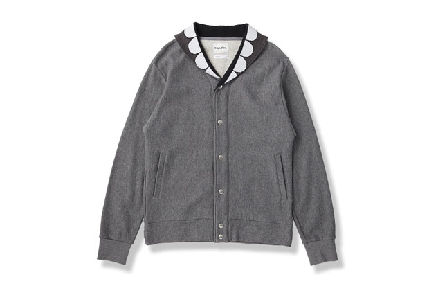 Image of OriginalFake SHAWL COLLAR BUTTON UP SWEAT