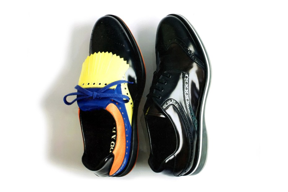 Image of Prada 2012 Spring/Summer Wingtip Brogue Sneakers