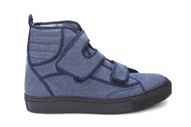 Image of Raf Simons 2012 Spring/Summer High Denim Velcro Sneakers