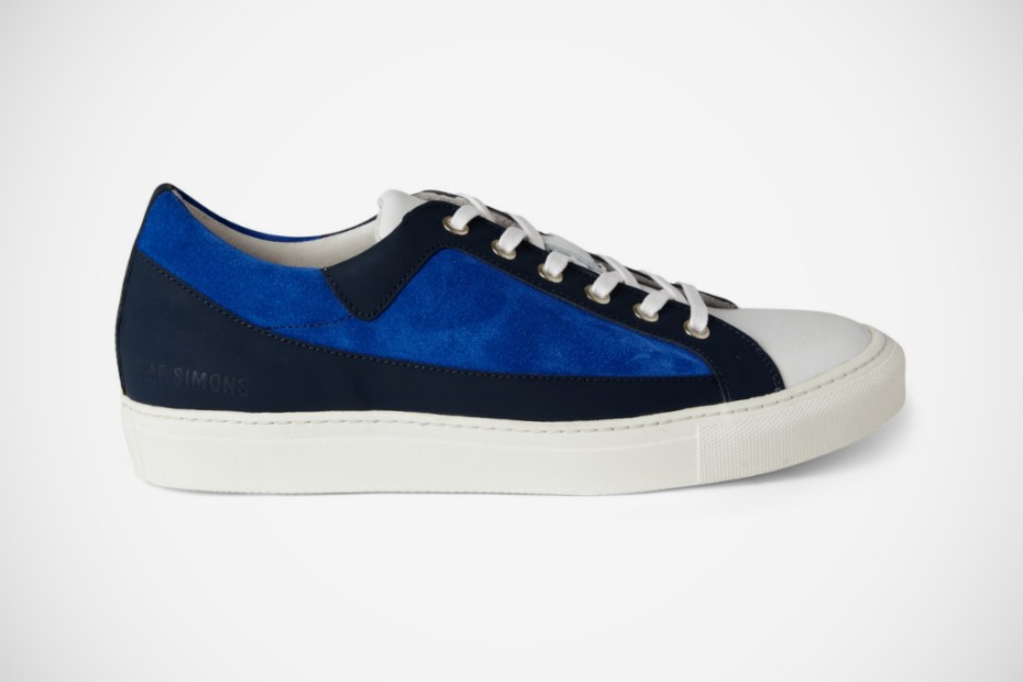 Image of Raf Simons Panelled Leather and Suede Sneakers