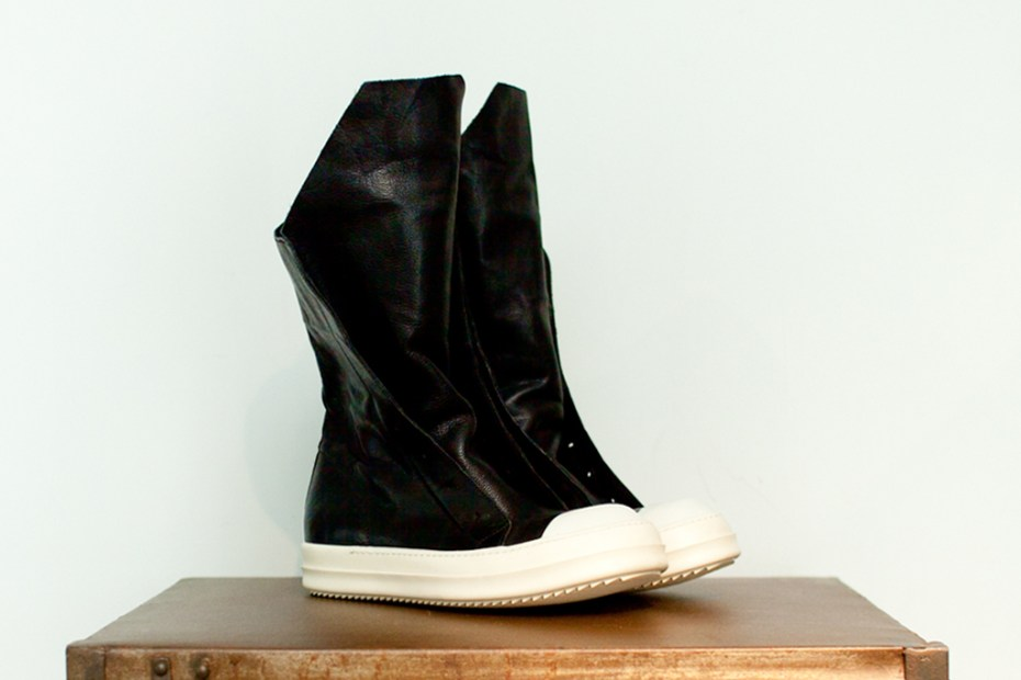 Image of Rick Owens 2012 Spring/Summer Leather Hiking Boot