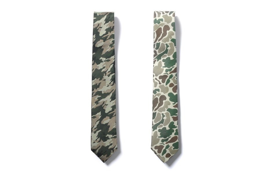 Image of SOPHNET. Camouflage Themed Narrow Neck Ties