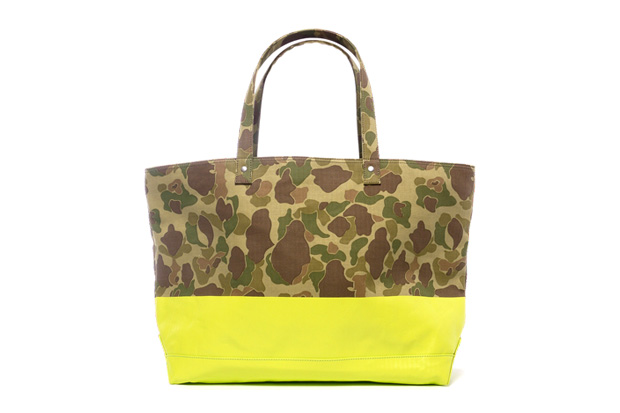 Image of SOPHNET. 2 Tone Duck Hunter Camouflage Tote Bag
