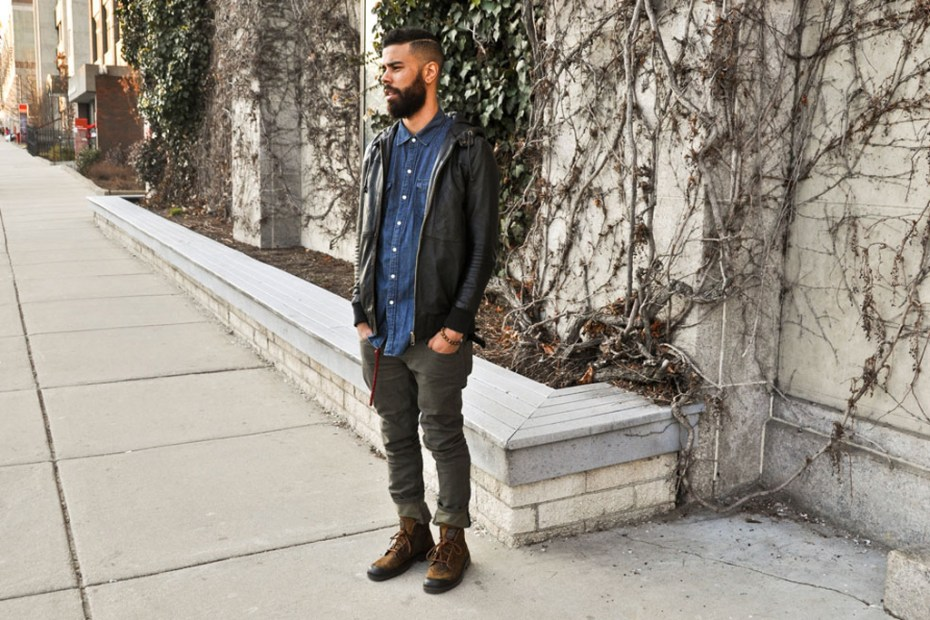 Image of Streetsnaps: Leather/Denim