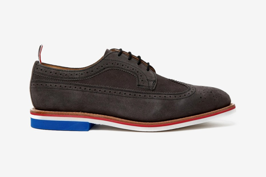 Image of Thom Browne 2012 Spring/Summer Grey Wingtip Brogue with Micro Sole