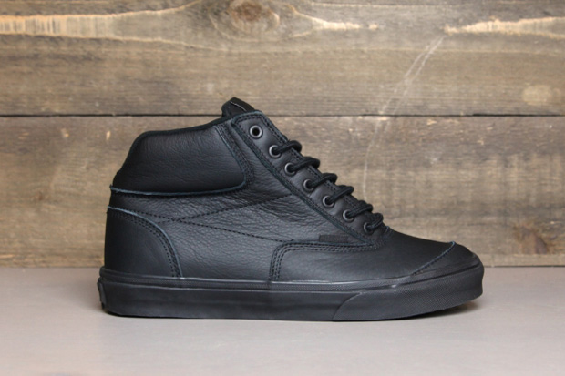 Image of Vans Black Matte Leather Switchback