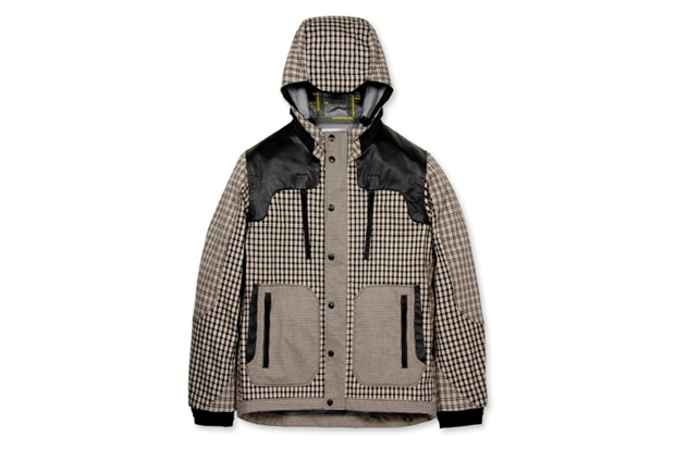 Image of White Mountaineering Dyed Check Parka