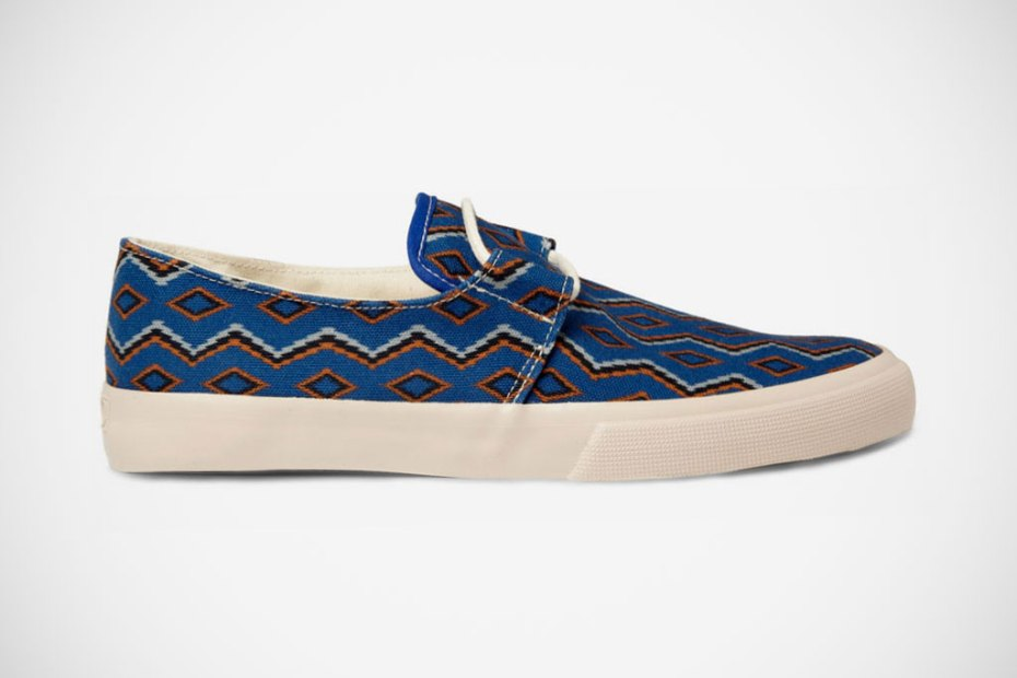 Image of YMC 2012 Spring/Summer Blue Cotton Navajo Deck Shoes