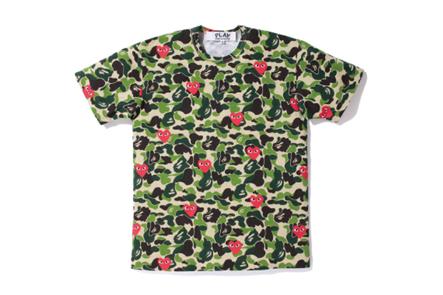 Image of A Bathing Ape x PLAY COMME des GARCONS 2012 Capsule Collection