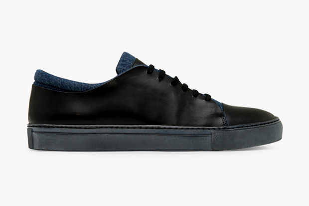 Image of Acne Leather/Denim Sneaker