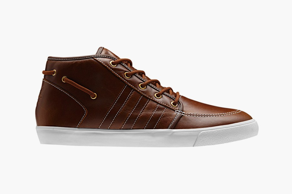 Image of adidas Originals Leather Court Deck Vulc Mid