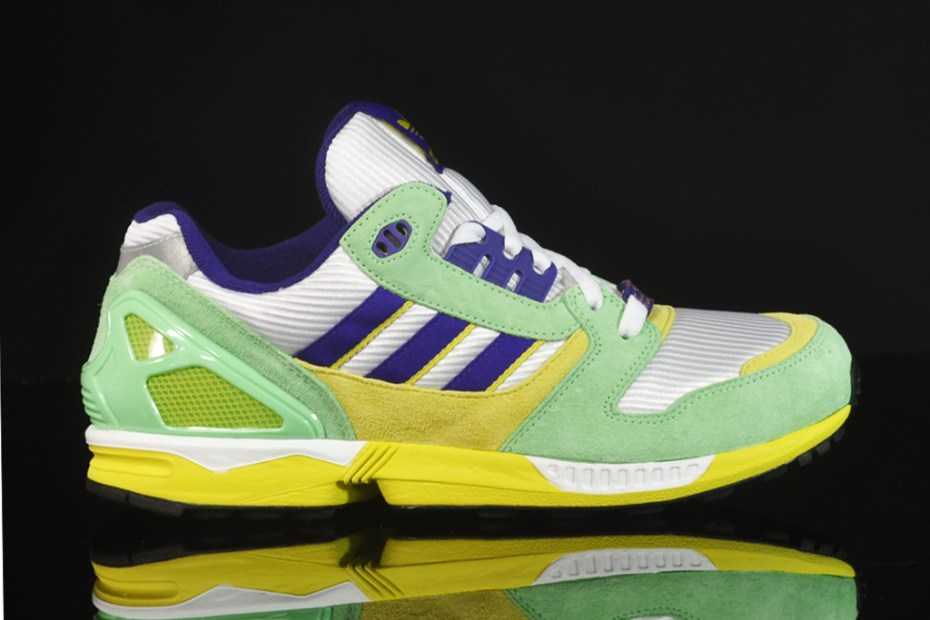 Image of adidas ZX 8000 White/Super-Green/Collegiate Purple