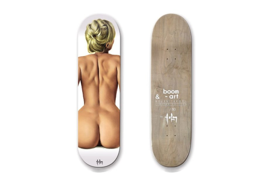 Image of Alain Aslan for Boom-Art Pin-Up Girl Skateboard Decks (NSFW)