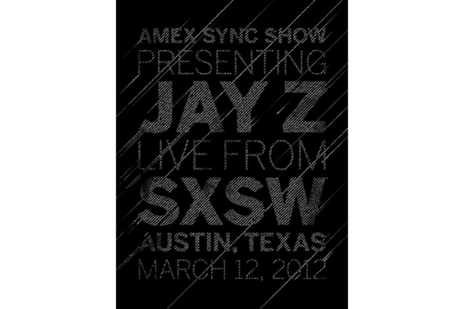 Image of Amex Sync Show Presenting Jay-Z Live