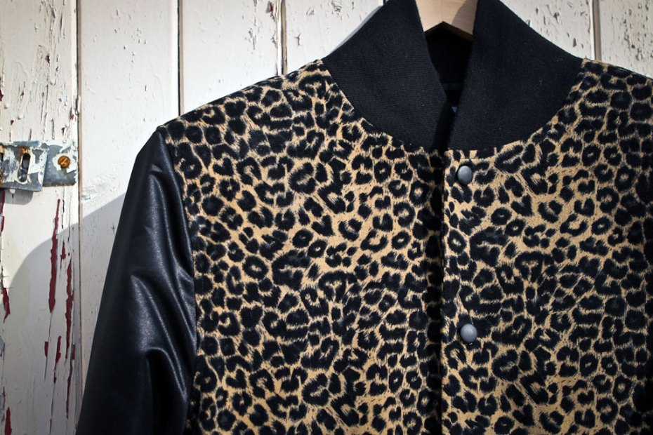 Image of B-Side by Wale Custom Cheetah Varsity Jacket