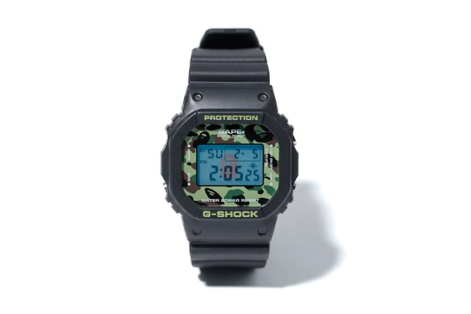 Image of A Bathing Ape x Casio 1ST CAMO G-Shock