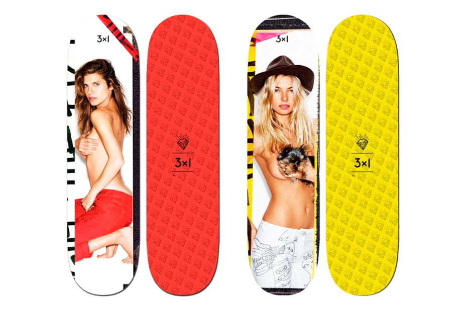 Image of Ben Watts x 3x1 Denim 2012 Supermodel Skateboard Decks
