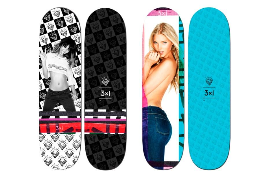 Image of Ben Watts x 3x1 Denim 2012 Supermodel Skateboard Decks