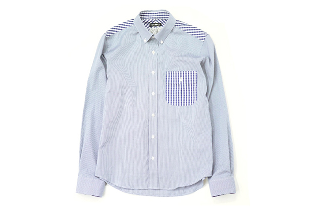 Image of CASH CA x Smyth & Gibson SS Navy Shirt Heather Grey Wall Exclusive