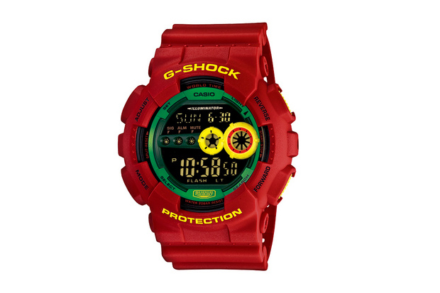 Image of Casio G-Shock GD-100RF-4JF Rastafarian